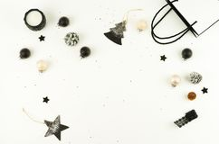 Christmas background. creative abstract composition of xmas decorations Stock Image