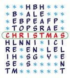 Christmas background - crossword puzzle Stock Image