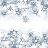 Christmas background. With crystal snowflakes. texture gray Stock Image