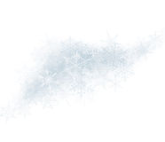 Christmas background with crystallic snowflakes. Stock Photo