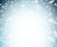 Christmas background with crystallic snowflakes. Stock Photos