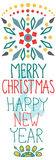 Christmas background with cute decorations and text Royalty Free Stock Images