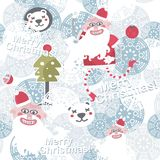 Christmas background with cute Santa Claus. Royalty Free Stock Photos