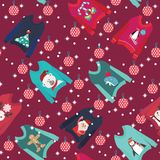 Christmas background with cute ugly christmas sweaters royalty free illustration