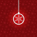 Christmas background with 3d bauble and 3d snowfla Royalty Free Stock Image