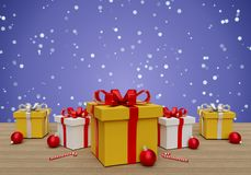 Christmas background 3d rendering Stock Photo