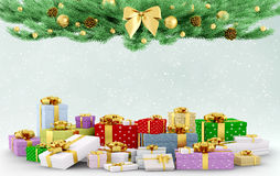 Christmas background 3d rendering Stock Image