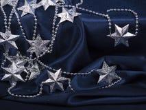 Christmas background of dark blue color Stock Photos