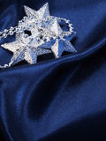 Christmas background of dark blue color Royalty Free Stock Photo