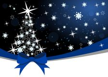 Christmas background with dark sky and snowflakes Royalty Free Stock Image