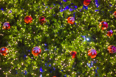 Christmas background of de-focused lights Stock Images