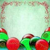 Christmas background Decorated BAlls Stock Photos