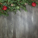Christmas background with decorated pinetree Stock Photography