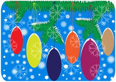 Christmas background with decorated tree Royalty Free Stock Photography