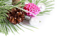 Christmas background with decoration Stock Image