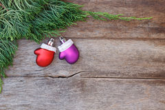 Christmas background with decoration gift.  Stock Photos