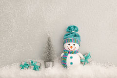 Christmas background decoration. Happy Snowman Royalty Free Stock Image