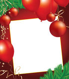 Christmas background with decoration objects Royalty Free Stock Images