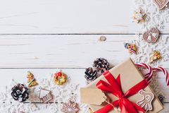Christmas background and christmas decoration presents concept, royalty free stock photography