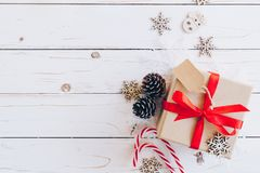 Christmas background and christmas decoration presents concept, stock photography