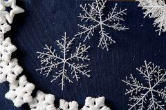 Christmas background with decoration stuff Royalty Free Stock Photography