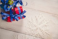 Christmas background with decoration stuff Royalty Free Stock Images