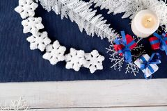 Christmas background with decoration stuff Stock Photo
