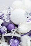 Christmas background. Christmas decoration. Christmas background. Christmas white and vioolet decoration Royalty Free Stock Images