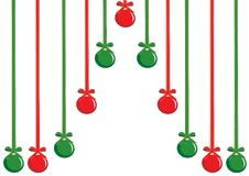 Christmas background with decorations Stock Image