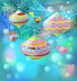 Christmas background with decorations Royalty Free Stock Images