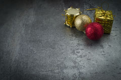 Christmas background with decorations Stock Photos
