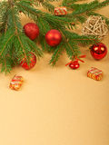 Christmas background. Christmas decorations on paper background Stock Image
