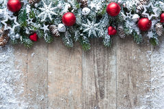 Christmas background with decorations Royalty Free Stock Photos