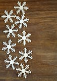 Christmas background decorations and snowflakes Royalty Free Stock Image