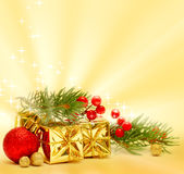 Christmas background and decorations Royalty Free Stock Images