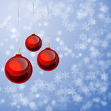 Christmas  background with decorations of two colours Royalty Free Stock Images
