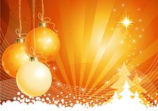 Christmas background with decorations / vector Royalty Free Stock Images
