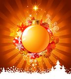 Christmas background with decorations / vector Royalty Free Stock Photo