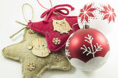 Christmas background with decorations Royalty Free Stock Image
