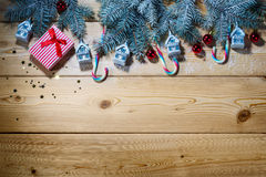 Christmas background with decorations Stock Photography