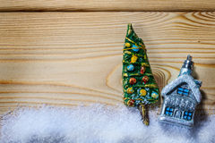 Christmas background with decorations Stock Photo