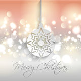 Christmas background. Decorative Christmas background with bokhe lights and bauble design Royalty Free Stock Images