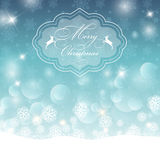Christmas background. Decorative Christmas background with bokhe lights and snowflakes design Royalty Free Stock Photos