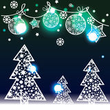 Christmas background with decorative elements Stock Photo
