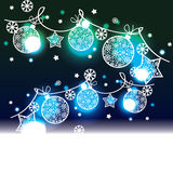 Christmas background with decorative elements Stock Photography