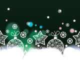 Christmas background with decorative elements Stock Images
