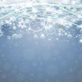 Christmas background. Decorative Christmas background with snowflakes and stars design Stock Photo