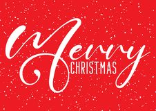 Christmas background with decorative text and snow effect. Christmas background with decorative text and a snow effect stock illustration