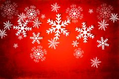 Christmas background in deep red and white Stock Photos