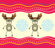 Christmas background with a deer. Royalty Free Stock Photos